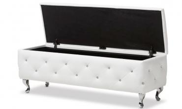 Stella Crystal Tufted Modern Storage Bench