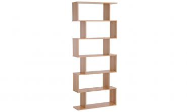 Six-Shelf S-Shaped Bookcase