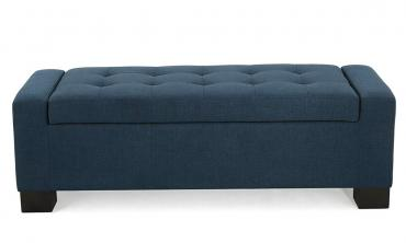 Tufted Storage-Bench Ottoman