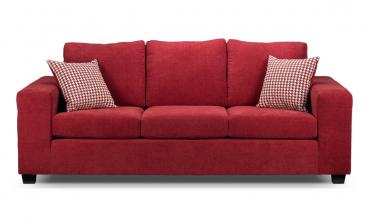 Knox Three Seater Sofa in Red Color