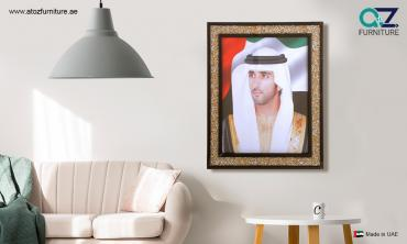 Framed Portraits of His Highness Sheikh Hamdan Bin Mohammed bin Rashid...