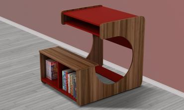Kido Girl Study Desk in Red