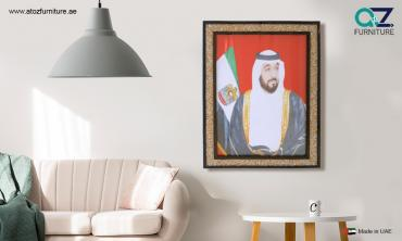 Framed Portraits of His Highness Sheikh Khalifa Bin Zayed Al Nahyan