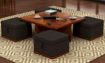 Dlsuf Center Table with Storage Ottoman