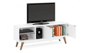 Barilo TV Stand 2 Doors Rack White
