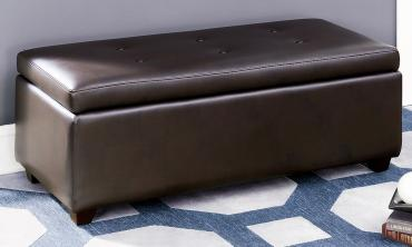 Contemporary Button Tufted Storage Ottoman