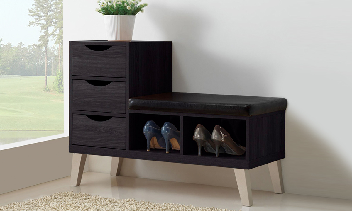 Modern Shoe Storage Cabinet With Bench From Aed 799 A To Z Furniture