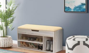 Maple Modern Shoe Cabinet Stool
