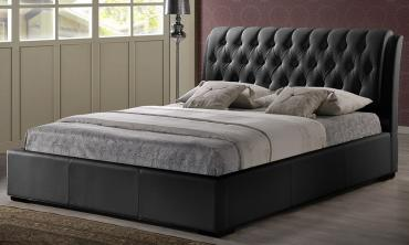 Leatherette Tufted Bed with Half-Medical Mattress