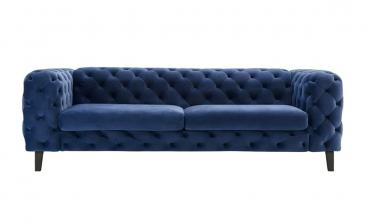 Corvus Tufted Velvet Chesterfield Rolled Arm Sofa