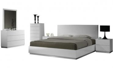 Elida White Contemporary Bedroom Set