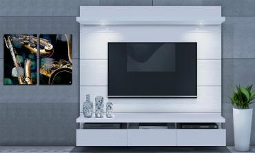 Floating Wall Theater Entertainment Center