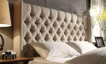 Skyline Upholstered Wingback Tufted Bed Frame