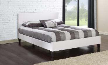 Modern Faux Leather Platform Bed