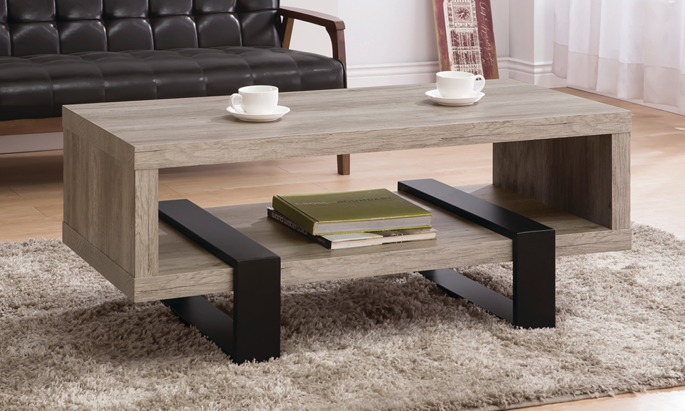 Modern Design Coffee Table In Oak And Black Color From Aed 949 A To Z Furniture