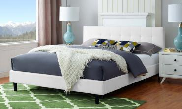 Linen Upholstered Platform Bed